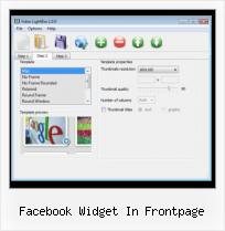 How to Embed FLV in Web Page facebook widget in frontpage