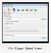 HTML For SWF flv player embed vimeo