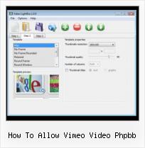 SWFobject Bgcolor Transparent how to allow vimeo video phpbb