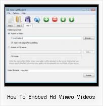 Video Streaming in HTML how to embbed hd vimeo videos