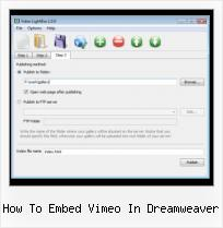 Lightbox Modifications Flash how to embed vimeo in dreamweaver
