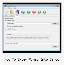 Remove SWFobject how to embed vimeo into cargo