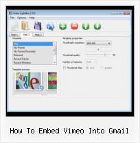 HTML Video Mute how to embed vimeo into gmail