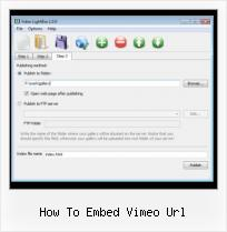 Free Web FLV Player how to embed vimeo url