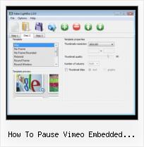 Div Over SWFobject how to pause vimeo embedded javascript