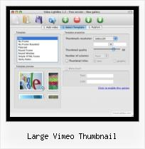 jQuery Para Video large vimeo thumbnail