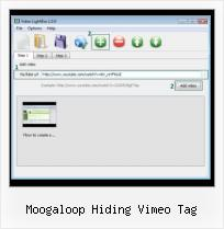Embedding Vimeo Youtube Video moogaloop hiding vimeo tag