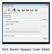 Javascript Video Link most recent myspace video embed