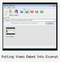 Add A Youtube Video putting vimeo embed into excerpt