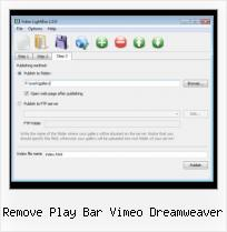 Lightbox Video Script remove play bar vimeo dreamweaver