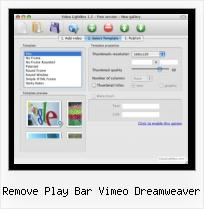 Embedding Matcafe HTML remove play bar vimeo dreamweaver