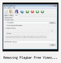 Javascript Video Test removing playbar free vimeo account