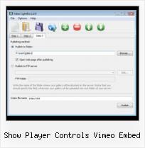 HTML Video in Webpage show player controls vimeo embed