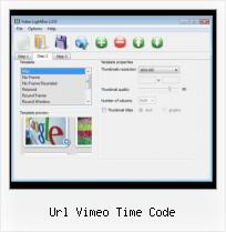 HTML Video Layout url vimeo time code