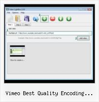 Slimbox Video vimeo best quality encoding tutorial