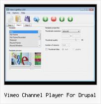 Lightbox Videos jQuery vimeo channel player for drupal