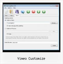 Put Streaming Video on Website vimeo customize