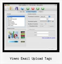 HTML Video Overlay vimeo email upload tags