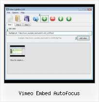 HTML How to Embed Video vimeo embed autofocus