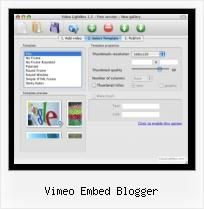 Javascript Video Encoding vimeo embed blogger