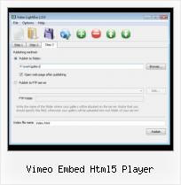 Embed FLV Movie in HTML vimeo embed html5 player