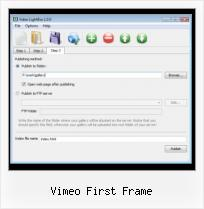 Add Youtube Video to Website vimeo first frame