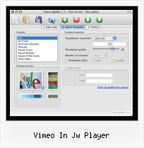 Javascript Video Mpeg vimeo in jw player