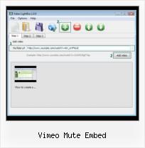 Embed Video HTML Youtube vimeo mute embed