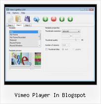Insert Flash Video HTML vimeo player in blogspot