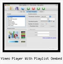 SWFobject Usage vimeo player with playlist oembed