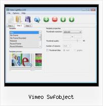 Inserting SWF in HTML vimeo swfobject